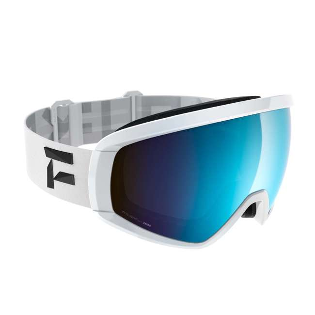 FX801002010ONE Flaxta Continuous Peripheral Vision Snowboard and Ski Goggles, White and Blue