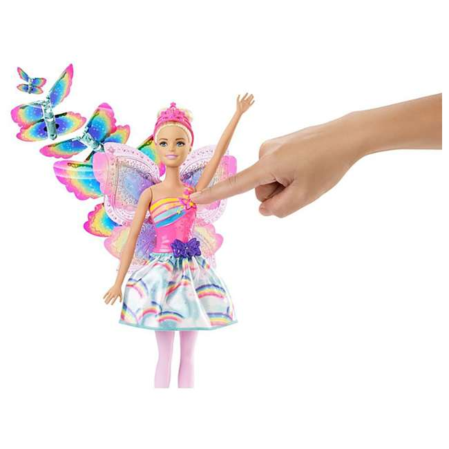 4 x FRB08 Mattel Barbie Dreamtopia Flying Wings Fairy Doll (4 Pack) 5