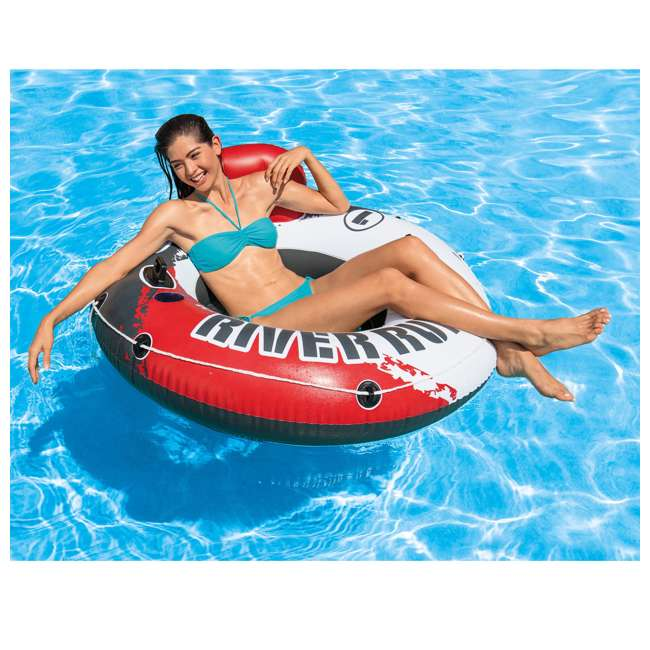 "6 x 56825EP-U-A Intex River Run 1 53"" Water Tube Lake Pool Ocean Raft, Red  (Open Box) (6 Pack) 2"