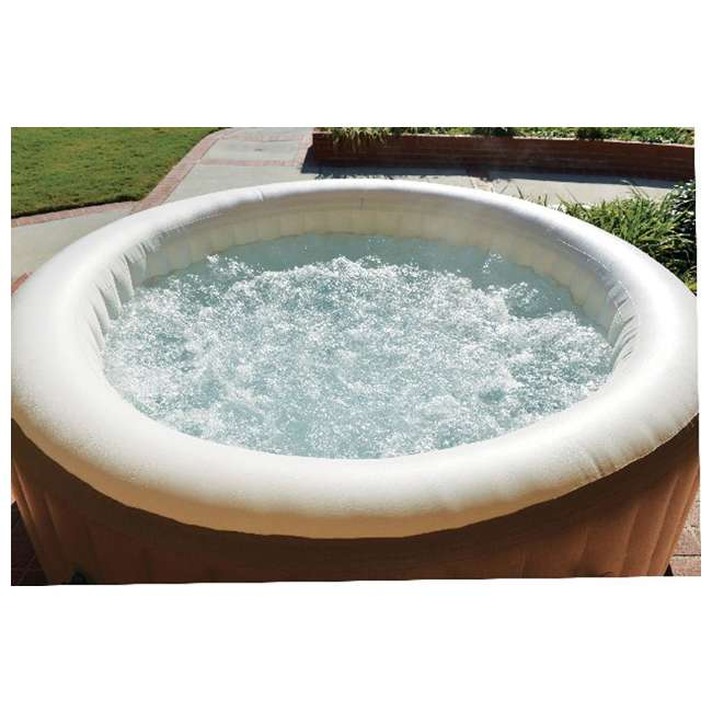 28401E + 3 x 29001E Intex Pure Spa 4-Person Inflatable Portable Hot Tub w/ Six Filter Cartridges 6