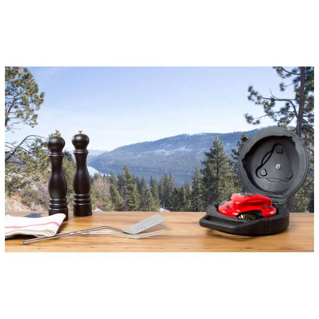 GBU:BUN3:RED Grillbot BUN3:RED Automatic Outdoor Grill Cleaning Robot with Carry Case, Red 5