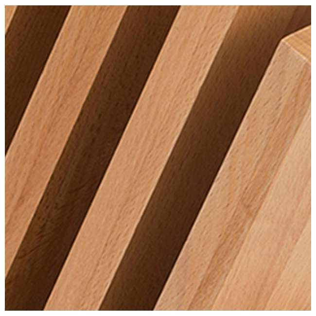 LEGNO-42 Art Legno 42 Venezia 9 Piece 4 Panel Magnetic Knife Block Holder, Beech Wood 3