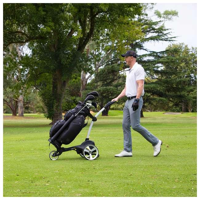 US-ZIPX5B MGI Zip X5 Electric Golf Push Cart Swivel Wheel Caddie with Accessories, Black 10