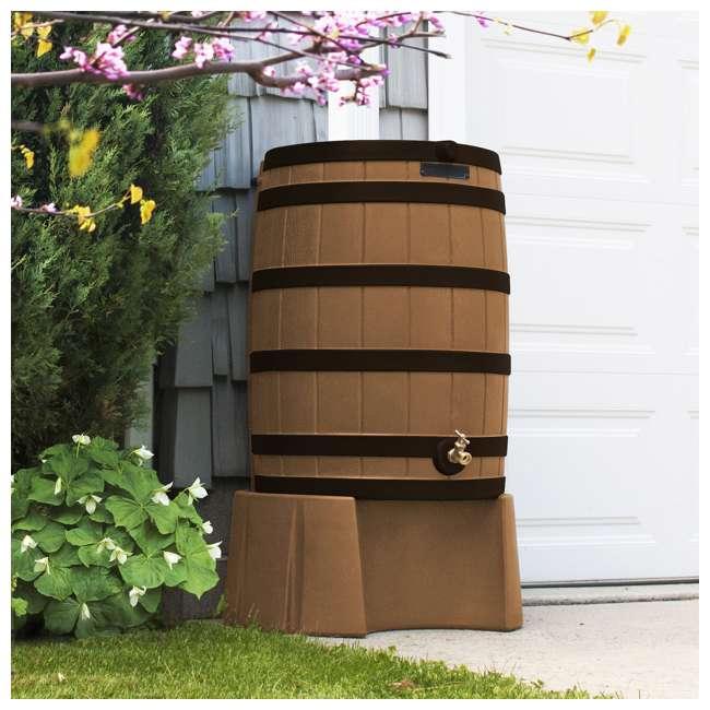 RW40-DR-TC Good Ideas Rain Wizard Rain Collection Rain Barrel Darkened Ribs, Terra Cotta 2