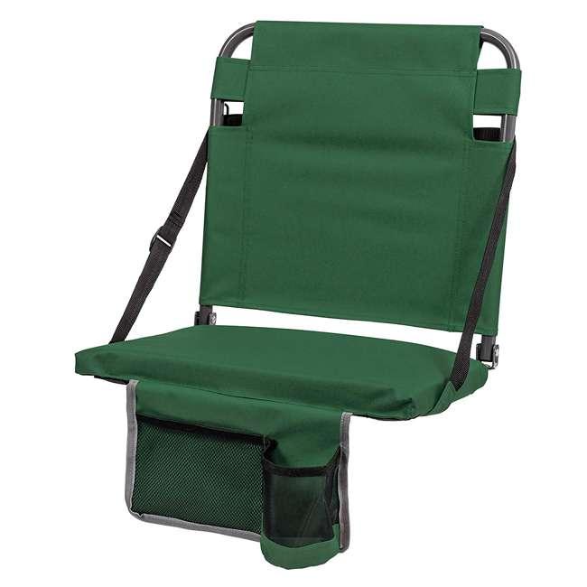 1-1-58811-DS + SL92-T-BK Eastpoint Sports Stadium Seat & Chantal 15 Oz Travel Mug, Green 2