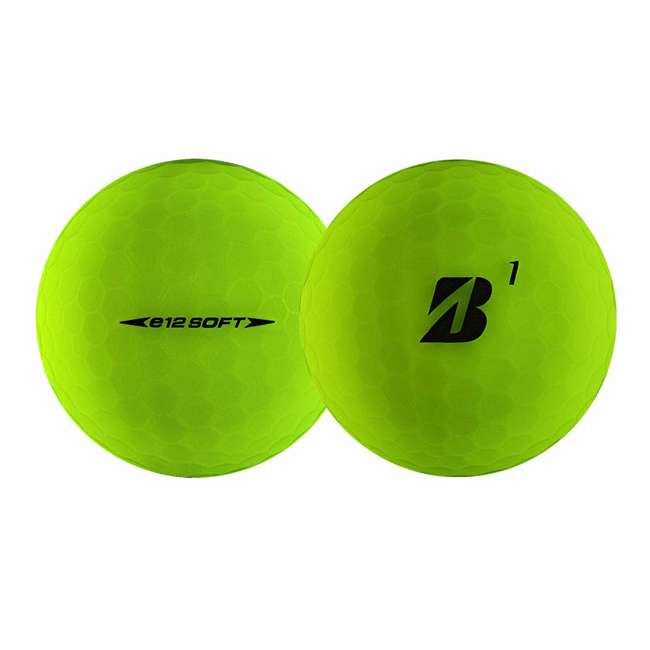 6 x 9CGX6D Bridgestone Golf Series e12 3-Piece Distance Golf Balls 1 Dozen, Green (6 Pack) 2