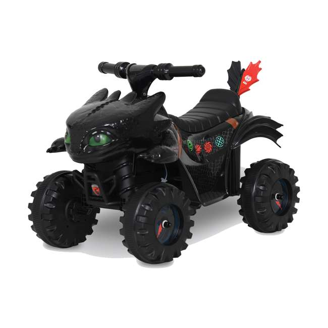 W413D Rollplay How to Train Your Dragon Battery Kid's Mini Quad 4 Wheeler Ride-On Toy