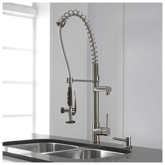 Industrial Style Kitchen Faucet: Kraus Commercial-Style Single-Handle Kitchen Faucet With