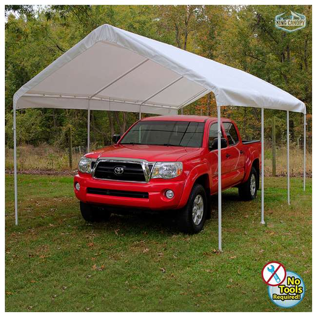 C81020PC King Canopy 10 x 20 Foot Universal Canopy, White 6
