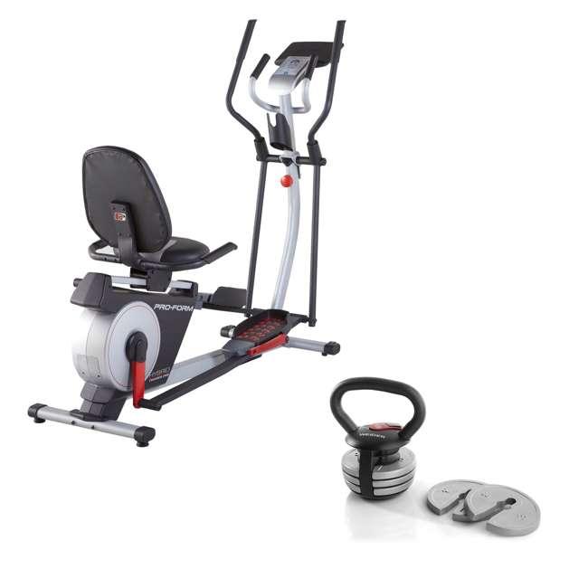 PFEL05815 + WAWkB2017 ProForm Exercise Bike & Elliptical and Weider 20 Pound Kettlebell