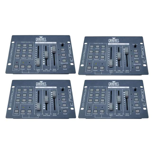 4 x OBEY3 Chauvet DJ Obey3 DMX-512 Light Controller  (4 Pack)