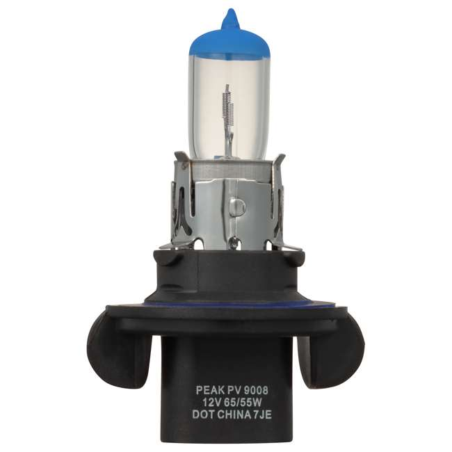 9008PV-2BPP PEAK Lighting Power Vision 9008 H13 65W Bright White Halogen Headlight Bulbs 1