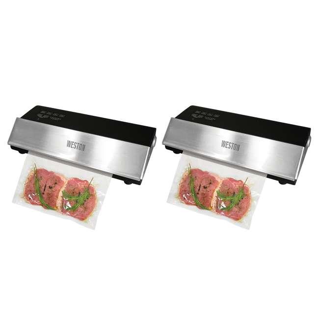 65-0501-W Weston Professional Advantage Meat Vacuum Sealer (2 Pack)