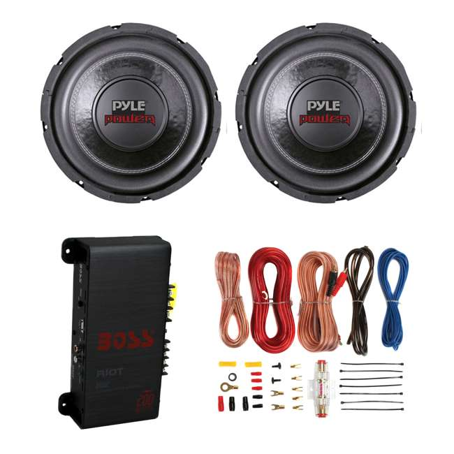 PLPW6D + R1002 + AKS8 2) Pyle PLPW6D 6-Inch 600W Subwoofers + 200W 2-Channel Amp + Amp Kit (Package)