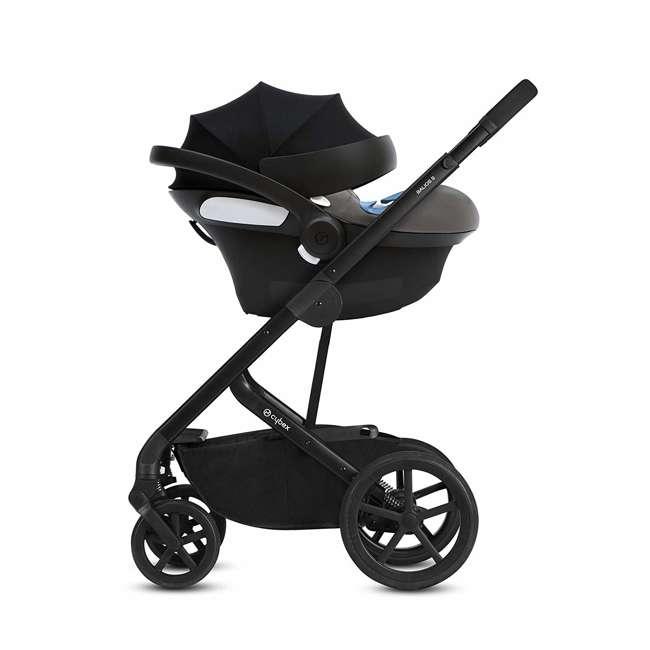 518002089 Cybex Aton M Newborn Infant Baby Car Seat with SafeLock Base, Lavastone Black 5