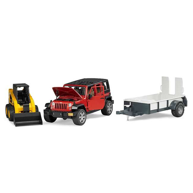 02925-BR Bruder Toys Jeep Wrangler Unlimited Rubicon with Cat Loader 2