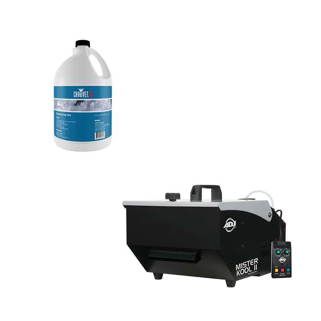 MISTER-KOOL-II ADJ Mister Kool II Water Based Fog Machine Chauvet High Density Fog Juice Fluid, 1 Gallon (2 Pack)