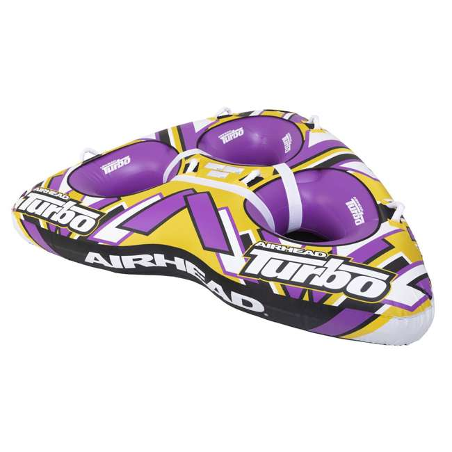"AHTB-13 Airhead Turbo Blast 3 Person 81"" x 107"" Inflatable Boat Towable Water Inner Tube 6"
