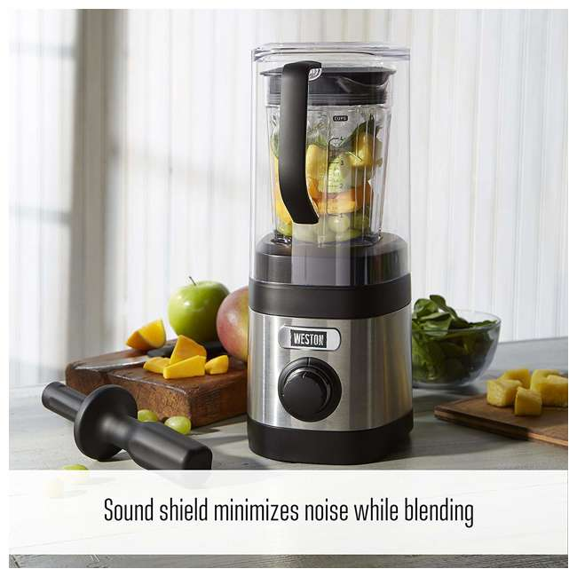 58917 Weston 58917 32 Ounce Blender w/ Sound Shield and Tamper 5