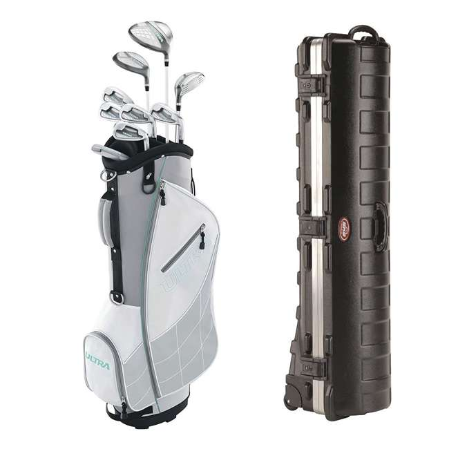 WGGC43300 + 2SKB-1649W Wilson Ultra Women's Golf Club Set and SKB Cases Hard Plastic Travel Case