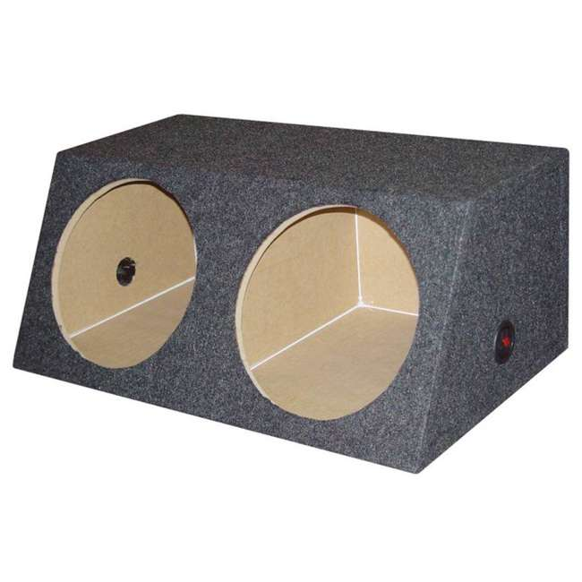 QSMBASS12 Q Power Dual 12-Inch Sealed Angled Subwoofer Box 2