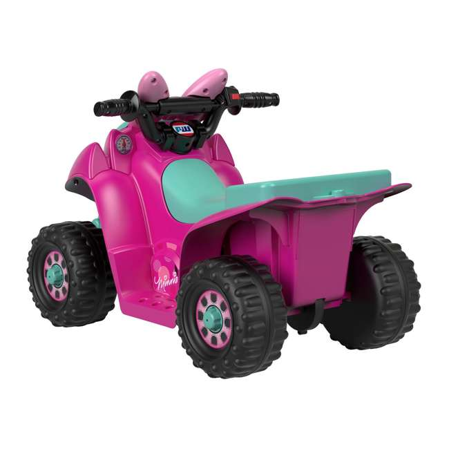 FLK44-U-A Fisher Price Power Wheels Toddler ATV Ride On Minnie Mouse Lil Quad (Open Box) 2
