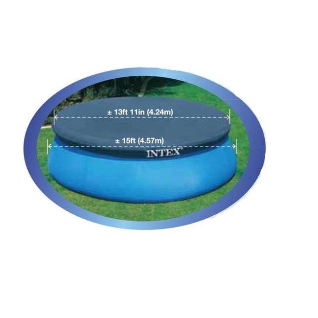 6 x 28023E-U-A Intex 15' Easy Set Swimming Pool Debris Vinyl Cover   28023E (Open Box) (6 Pack) 2