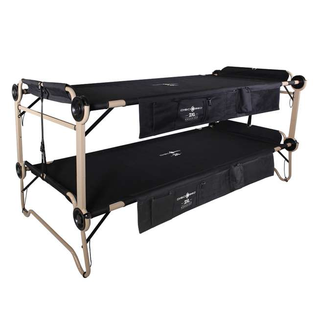 30507BO Disc-O-Bed 2XL Cam-O-Bunk Cot, Black (2 Pack) 1