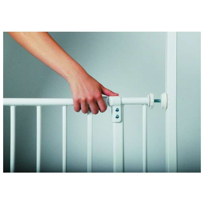 4910S North States Easy Close 28 to 38.5in Metal Baby Pet Gate(Open Box) (2 Pack) 5