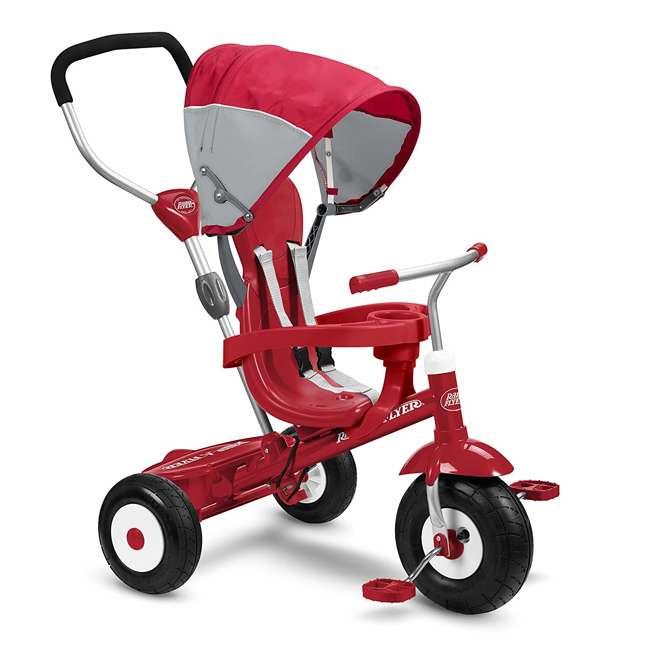 816Z Radio Flyer Sport 4 in 1 All Terrain Kids Stroll 'N Trike Ride On Tricycle, Red