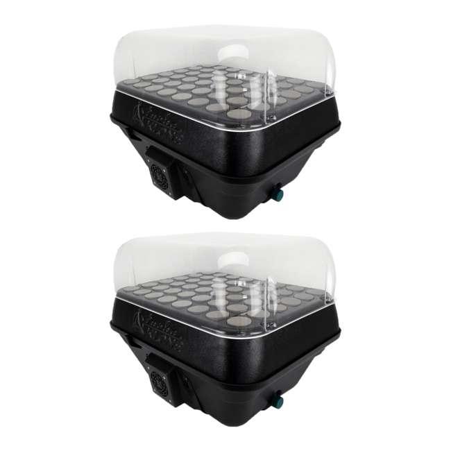 T48D TurboKlone T48D Black Label 48 Plant Cloner w/ Humidity Dome (2 Pack)