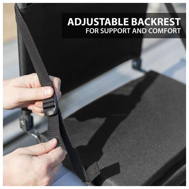 1-1-58810-DS Eastpoint Sports Adjustable Backrest Seat, Black (2 Pack) 4
