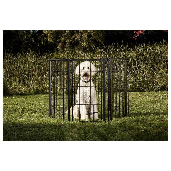 CAR480 Carlson 36-Inch Tall Outdoor Super-Wide Pet Pen and Gate, Black