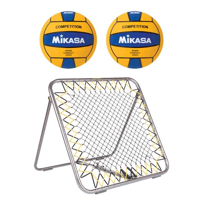 WSM + 2 x W5009BLU Mikasa WSM Water Polo Shot Maker Rebounder w/ Ball (2 Pack)