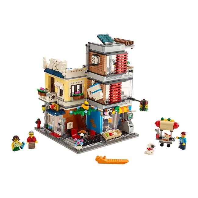 6250798 LEGO 31097 3-in-1 Townhouse Pet Shop & Cafe Block Building Kit w/3 Minifigures 3