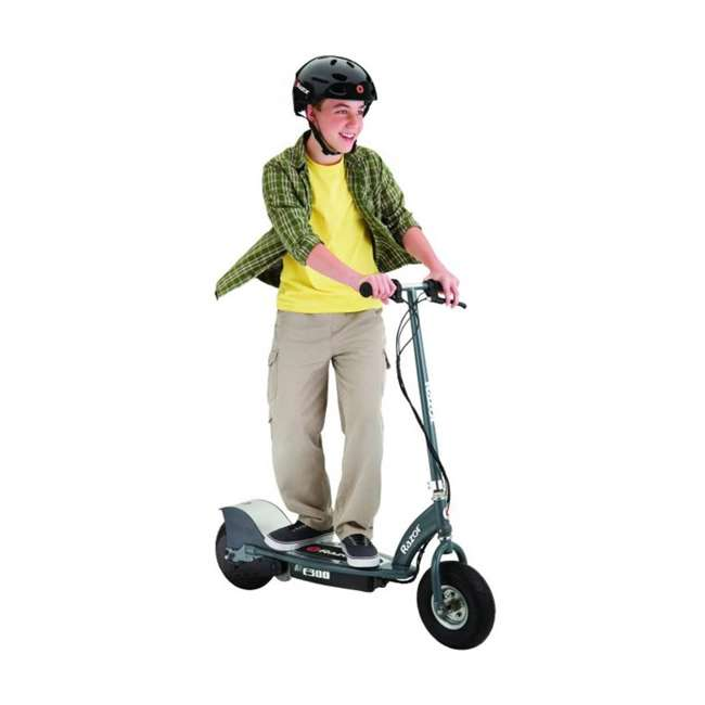 13113614 + 2 x 96785 + 2 x 97778 Razor E300 Electric Motorized Scooters, Gray (2 Pack) + Safety Pads + Helmets 4