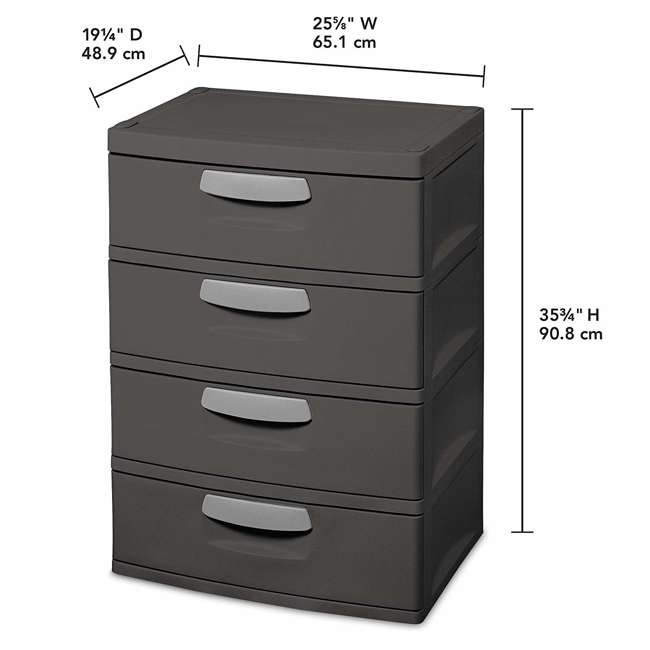 12 x 01743V01 Sterilite 4-Drawer Storage Unit (12 Pack) 2