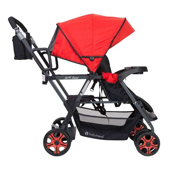 SS80A07A Baby Trend SS80A07A Sit N Stand Folding Compact Two Seat Baby Stroller, Red 1