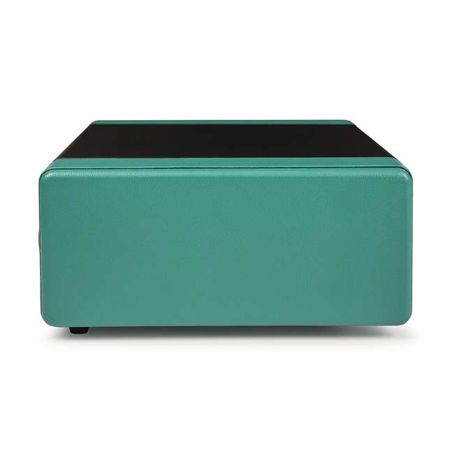 CR6230A-TU Crosley Snap USB Enabled Portable Turntable, Black/Turquoise 2
