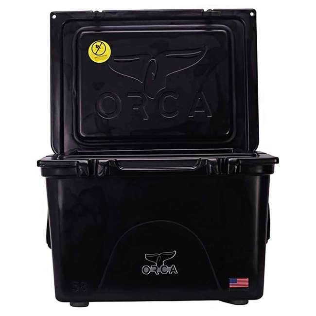 ORCBK058 Orca ORCBK058 58 Quart 72 Can Roto Molded Insulated Outdoor Ice Cooler, Black 2