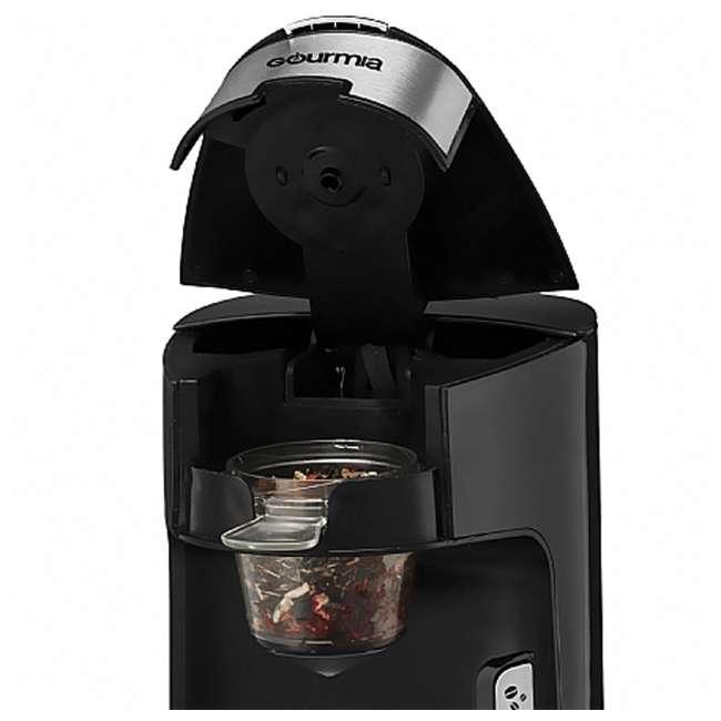 GCM3600 Gourmia Automated Single Serve Coffee and Tea Brewer and Capsule Machine, Black 4