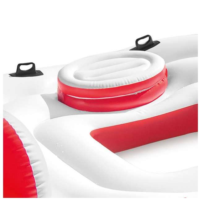 56296CA + 66639E Intex Inflatable Island Float Raft | Intex 120V Quick Fill AC Electric Air Pump 6