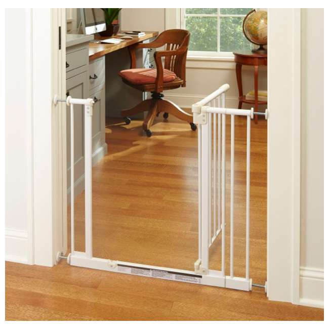 4910S North States Easy Close 28 to 38.5in Metal Baby Pet Gate(Open Box) (2 Pack) 2