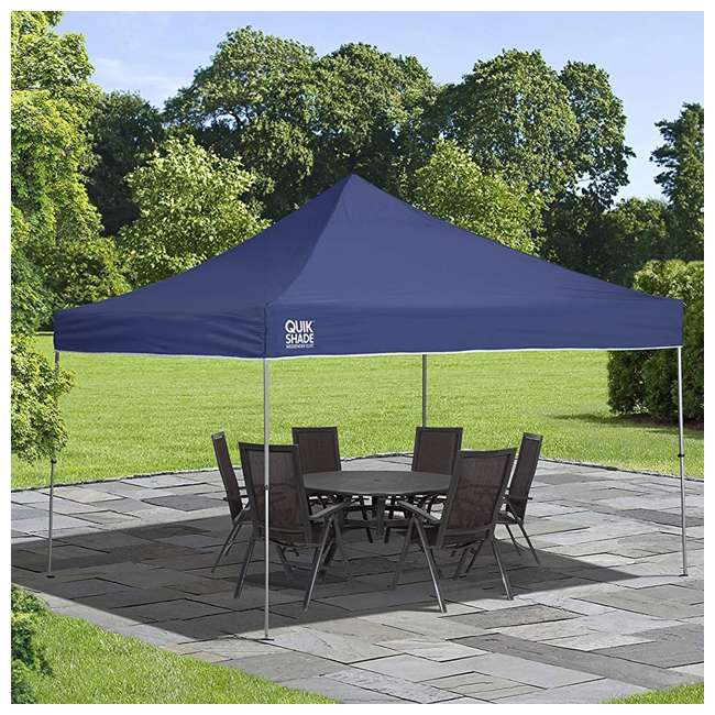 QS-157370DS ShelterLogic 12' x 12' Straight Leg Pop Up Canopy, Blue (2 Pack) 2