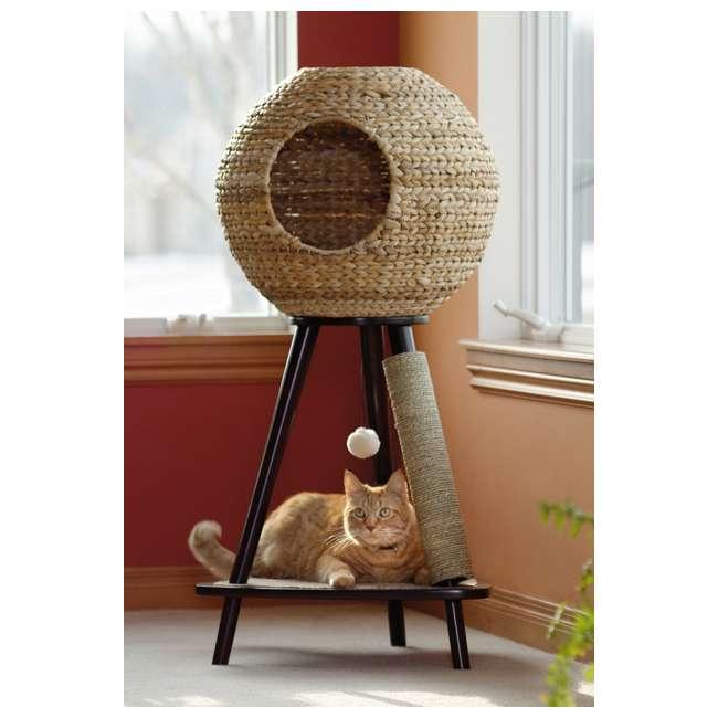 Sauder Furniture Natural Wicker Sphere Scratching Cat Tower Sf 416821
