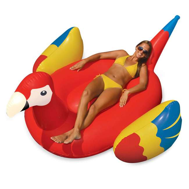 90629 Swimline Giant Inflatable Parrot Float 1