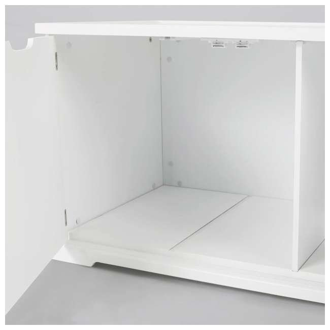 MPS010-U-D Merry Products Bench with Enclosed Cat Litter Washroom Box, White (Damaged) 5