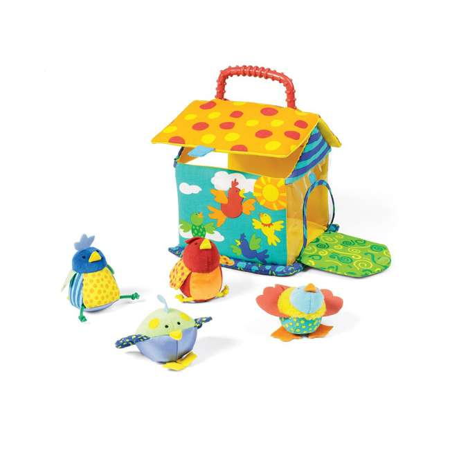201110 Manhattan Toy Put and Peek Soft Interactive Birdhouse with 4 Colorful Birds 3