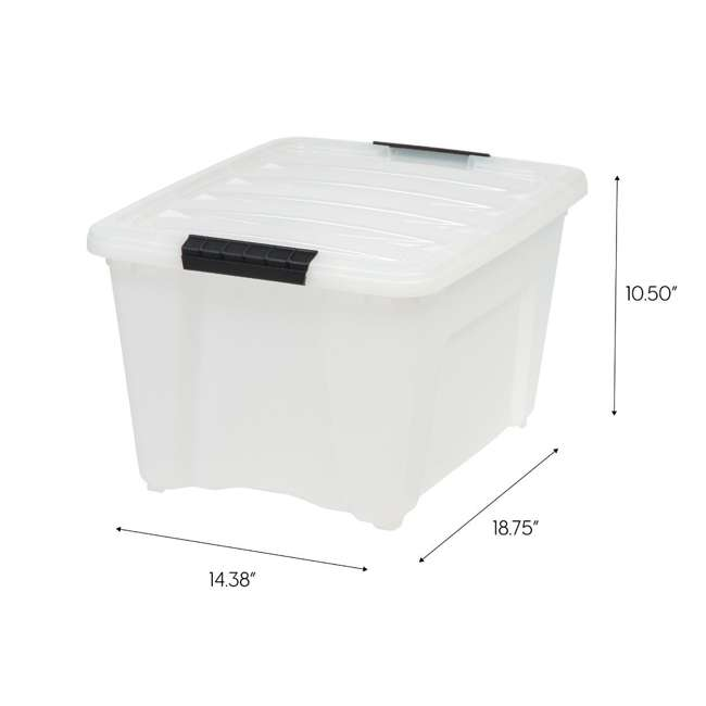 588248-6PK IRIS 32 Quart Stack and Pull Storage Container Box Bin System w/ Lids (6 Count) 8