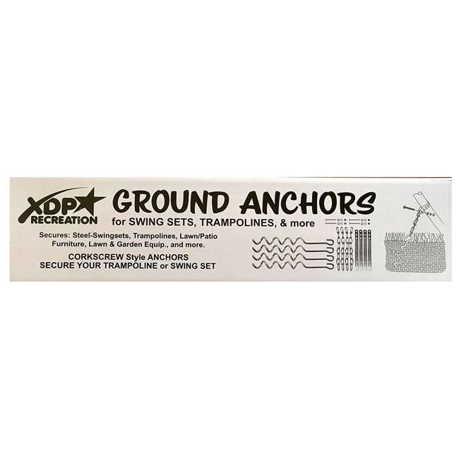 6 x 70113 XDP Recreation Trampoline & Furniture Metal Ground Anchor Kit (Open Box)(6 Pack) 4